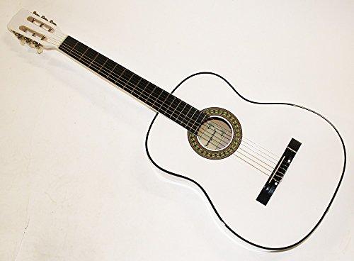 Cherrystone Konzertgitarre Akustik Gitarre Schülergitarre Größen- und Farbwahl (4/4, weiss)