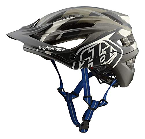 Troy Lee Designs Adult All Mountain XC Mountain Bike A2 Jet Helmet (Gray, Small)