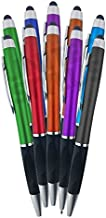 SyPen 2-1Twist Action Stylish Metallic Capacitive Stylus with Comfort Grip Ball Point Black Ink Pen for Touchscreen Devices, iPhone, Ipad, Android Tablets (12-Pack)
