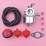 LLXXD Carburatore Filtro Carburante Kit Completo di Parti di prim'ordine per Tecumseh 640298 OHSK70 OH195SA Motori Ariens 932036 932504 ST524 Spazzaneve Oregon 50-666 Pezzi di Ricambio