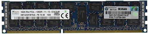 HP 16GB 2RX4 PC3L-12800R-11 DDR3 1600 (PC3 12800) Memory Kit 713985-B21