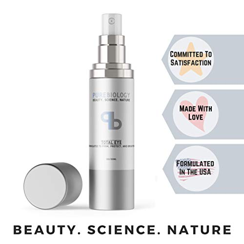 """Pure Biology """"Total Eye"""" Anti Aging Eye Cream Infused with Instant Lift Technology & Baobab..."""