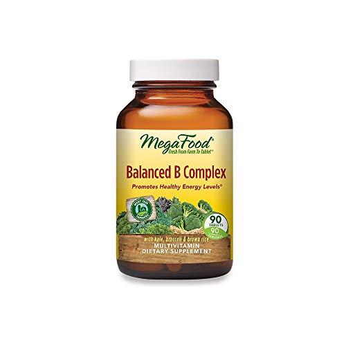 MegaFood Balanced B Complex - Supports Celllular Energy with Vitamins B1, B2, B3, B5, B6, B7, B9, B12 - Gluten Free and Made Without Dairy - Vegan - 90 Tabs