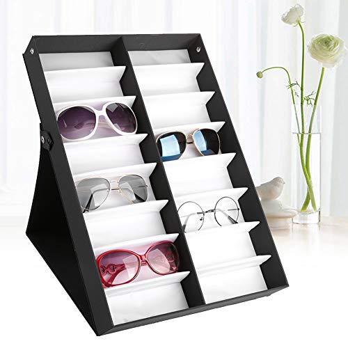 Cocoarm Brillenbox 16 Brillen Brillenaufbewahrung Mehrere Brillen Sonnenbrillen Präsentation Brillendisplay Aufbewahrungsbox Organizer Brillenetuis zur Aufbewahrung von 16 Brillen, 48.5 * 33 * 6cm