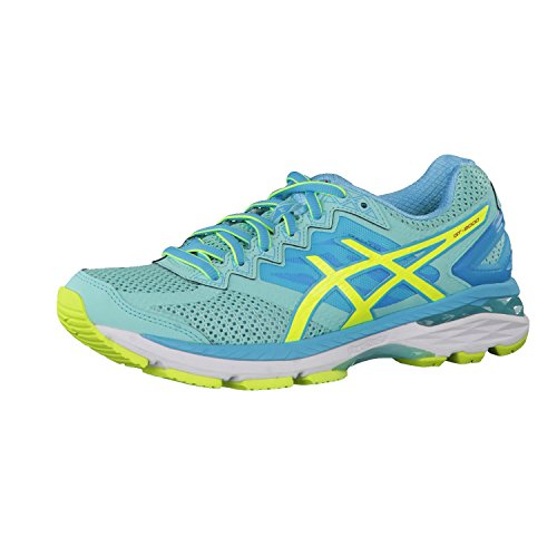 Asics GT-2000 4 Zapatillas de Running para Mujer, Color Multicolor (Aruba Blue/Safety Yellow/Aquarium), Talla 37