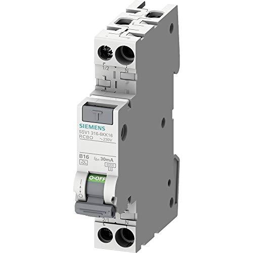 Siemens 5SV13166KK16 FI-Schutzschalter/Leitungsschutzschalter 2polig 16A 0.03A 230V