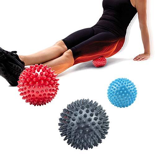 HENGBIRD 3er Set Igelball Set mit Noppen, Igel Ball Massageball, Antistress-Bälle, Handtrainer, Massage Massagebälle für Rücken, Beine, Füße & Hände Muskelmassage