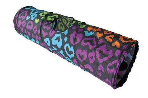 LeerKing Juegos para Gatos Juguetes para Animales pequeños Vistoso Tuneles Gatos 25cm*85cm