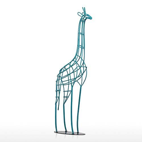 Estatua de Hierro de Jirafa 20,8 Pulgadas de Hierro Hecho a Mano Estatua de Jirafa Africana Escultura de Animal estatuilla decoración del hogar artesanía, como se Muestra