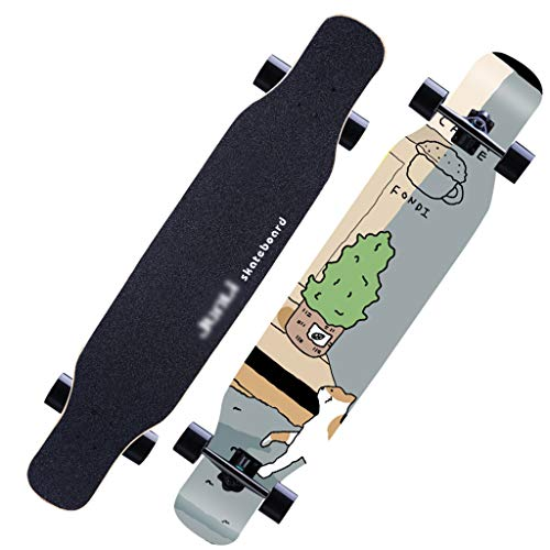 GDF-SKATEBOARDS Skateboard Adult Girl Vierwielige Highway Professional Board Brush Street Double Alice Men Maple Dance Longboard beginners