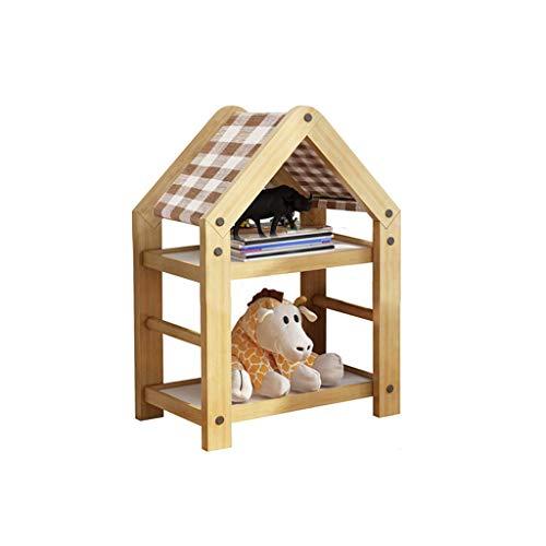 Alqn Estantería para niños Estantería moderna Estantería pequeña para niños Estantería de almacenamiento Libros creativos para el hogar Estantería simple,B