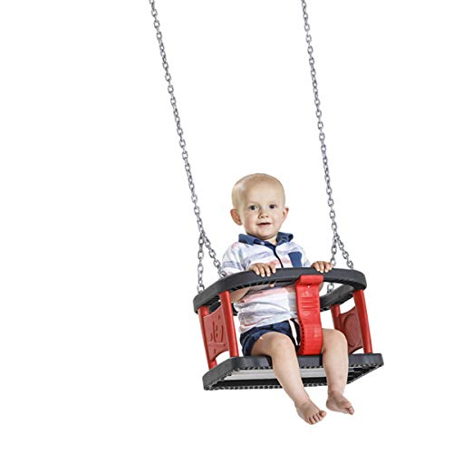 MASGAMES | Silla de bebé para Columpio Baby Curve | Homologada para Uso público | Cadenas inoxidables 180 cm |