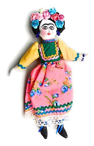Grahmart Frida – Mexikanische handgefertigte Puppe – Frida (Pink)