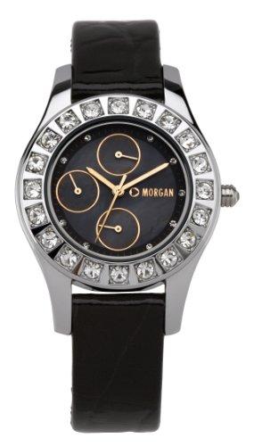 Morgan M1082RG - Reloj analógico de Cuarzo para Mujer con Correa de Piel, Color Negro
