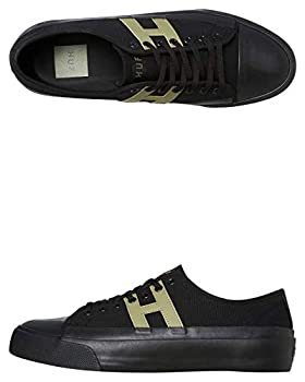 HUF Skateboard Shoes Hupper 2 Lo Black Size 12 VC00092-BLACK