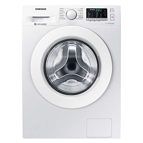 Samsung WW80J5455MW Lavatrice 8 kg Crystal Clean, 1400 rpm, 49 - 74 dB, Bianco con Oblò Bianco