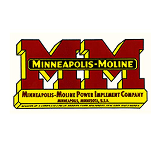 One New Minneapolis Moline Decal (Yellow Border Around Mm Logo) Various Applications & Models