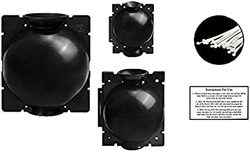 Plant Root Growing Box - 3 Pack with Bonus Zip Ties and Instruction Card - Plant Propagation Ball, Reproduction Root Booster Pod