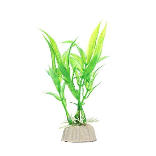 mi ji Aquarienpflanzen Dekor Simulation Glücklicher Bambus Garten Landschaft Ornament Für Aquarium Unterwasser-Aquarium Dekorationen Grün 1pc