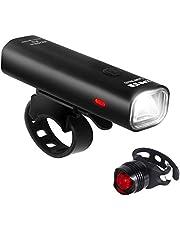 Unigear 自転車ライト USB充電式 LEDフロントライト 2500mAH 高輝度4モード 前照灯 懐中電灯 アルミ合金製防水 取り付け簡単 テールライト付き