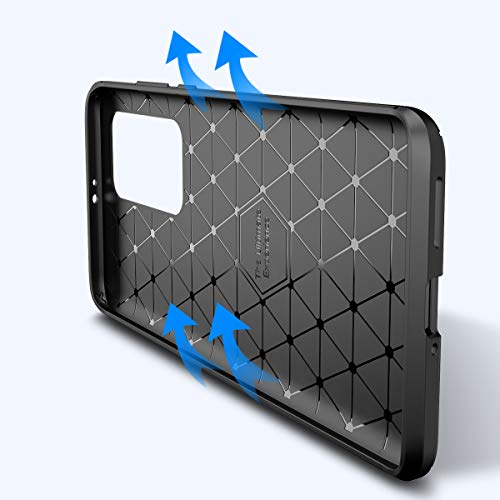 MISKQ Hülle für Huawei P40 Pro, Stoßfest Handyhülle Schutzhülle Shock Absorption Cover Ultra Schlank Softschale Silikon TPU (Brown) - 6