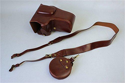 K-3 II Camera Case, Zakao PU Fullbody Bottom Opening Versie Beschermend Lederen Camera Case Tas voor Pentax K-3 II 16-185mm 50-200mm lens met Schouderband en Mini Tas