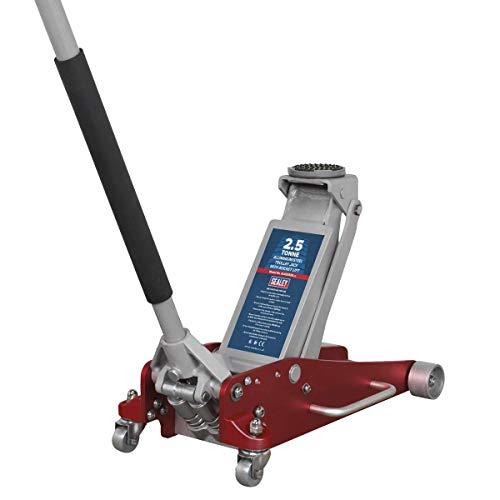 Sealey - Cric A Carrello, capacità 2,5 Tonnellate, Acciaio E Alluminio