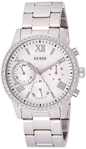 Guess Damen Analog Quarz Uhr mit Edelstahl Armband W1069L1