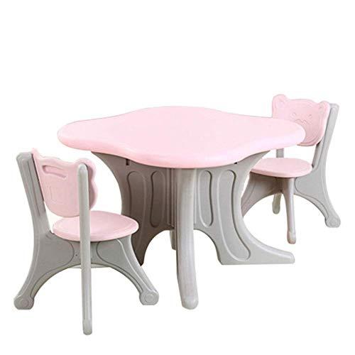 ZY Children's study table and chair Juego de Mesa y Silla para niños, Escritorio de Graffiti Seguro y Duradero, fácil de Limpiar, Mesa de Actividades para niños y niñas
