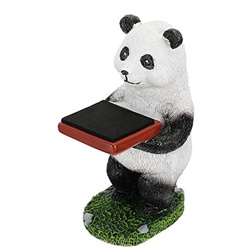 Cabilock Creativo Reloj Panda Soporte Caja de Almacenamiento Caja Figura de Resina Modelo Reloj Exhibidor Joyero Organizador de Regalo