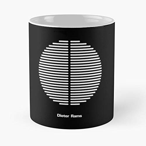 Seeyo Rams Design Bauhaus Braun Industrial Wiesbaden Graphic Dieter White Functionalism Black Best 11 oz Kaffeebecher - Nespresso Tassen Kaffee Motive
