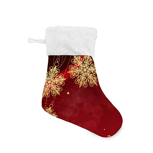 ALARGE Christmas Socks,Christmas Snowflake Star Pattern Soft Christmas Stockings Xmas Ornament Tree Mantel Holders Decoration for Family Holiday Party Hotel Restaurant,6 Pieces