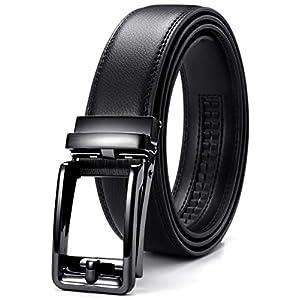 CHAOREN【正規品】ベルト メンズ ビジネス おおきいサイズ、クリックベルト コンフォート、穴なし 無調整 紳士ベルト、無段階調節、スーツベルト、長さ115cm〜150cmおしゃれなのプレゼント