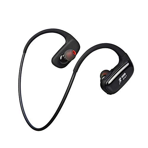 CYBORIS - Auricolari Bluetooth da 16 GB, per nuoto, corsa, impermeabili, IPX7, stereo, wireless, stereo, montaggio sul collo, con doppio ingresso, lettore MP3, qualità audio Hi-Fi