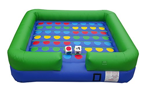 Oversized inflatable twister yard game