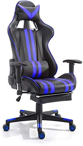 WSDSX Office Chairs Gaming Chair,Ergonomic Gaming Chair Massage Computer Gaming Chair with Footrest Reclining Home Office Chair High Back PU Leather Gaming Desk Chair Large Size Computer