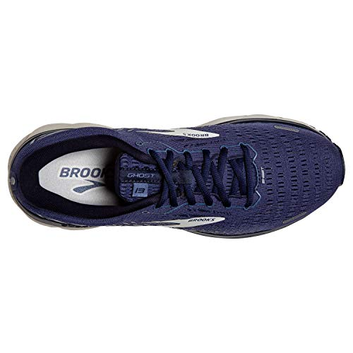 Brooks Men's Ghost 13, Deep Cobalt/Grey/Navy, 12.5 Medium