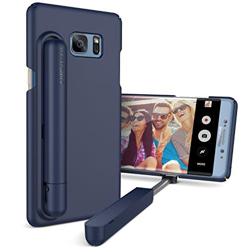 Urcover Custodia Bastone Selfie Stick VRS Design per Apple iPhone 7/8, Cover per Foto con Asta Telescopica Integrata in Azzurro