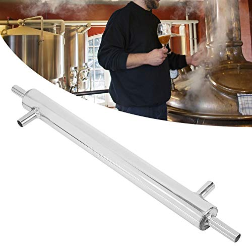 Whisky Wine Making Kit, Kühler Distiller Kondensator Edelstahl Externes Kühlrohr Rohr für Hausbrauerei Wasser Alkohol Destillierrohr