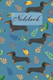 Notebook: Dachshund Dog And Leaves - Diary / Notes / Track / Log / Journal , Book Gifts For Women Men Kids Teens Girls Boys 6x9' 120 Pages (Lovely Dog Notebook)