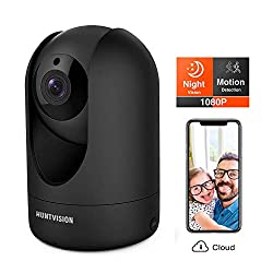 30%OFF Huntvision Security Camera, Surveillance Camera, 1080p/Pan/Tilt/Zoom Smart Wi-Fi Camera with Night Vision