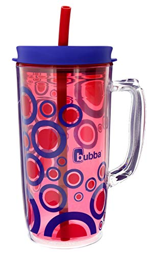 Bubba Envy Insulated Tumbler with Straw, 48oz-Ideal Travel Mug with Handle that is Impact, Stain, Sweat, and Odor Resistant-Insulated Water Bottle to Take on the Go- Luau with Bubble Graphic