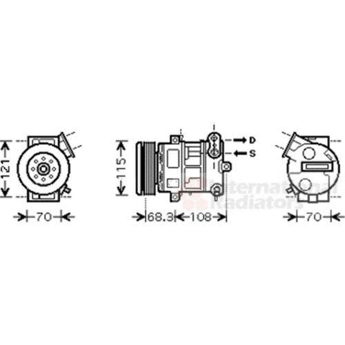 VAN WEZEL 3700K418 Montaggio Aria Condizionata