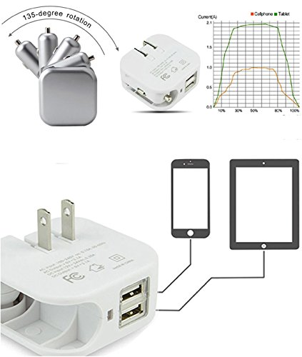 Universal Wall-Charger Car-Charger-Adapter Dual-USB Ports for Cellphone Tablet - HOBBYMATE