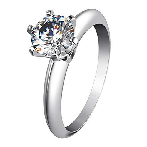 BQZB Anillo Top Brand Style Diamantes sintéticos Anillo de Mujer 925 Joyería de Plata esterlina Joyería de Compromiso Regalo de Boda para Ella