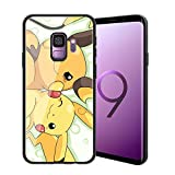 for Galaxy S9 Plus, Pocket Monsters 143 Design Tempered Glass Phone Case, Anti-Scratch Soft Silicone Bumper Ultra-Thin Galaxy S9 Plus Cover for Teens and Adults