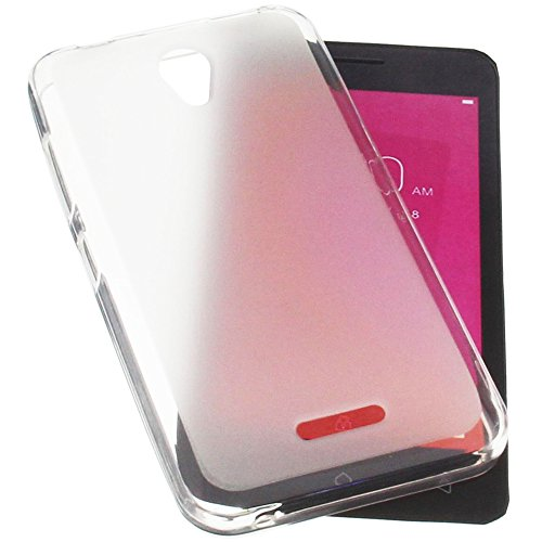 foto-kontor Funda para Lenovo Vibe B A1010 Funda Protectora de Goma TPU para móvil Transparente Blanca