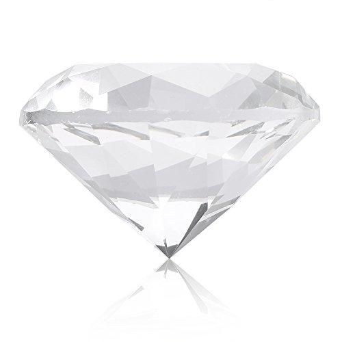 Nail Art Display, 2 couleurs Nail Art Display Verre Cristal Diamant Main Modèle Shoot Ornament Manucure Accessoires(60MM Blanc)