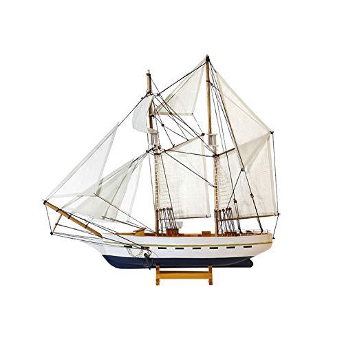 MYRCLMY Simulación De Madera Sailboat Modelo De Decoración, Modelo Ensamblado De 50 Cm Dulce, Regalo De La Embarcación Artesanal De Madera Maciza, para El Baño Decoración del Hogar