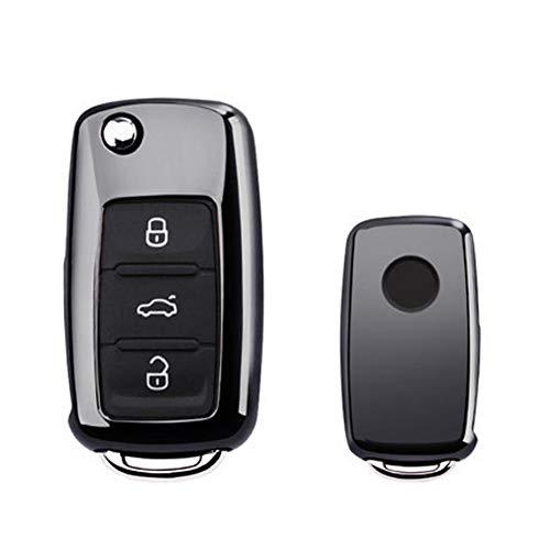 ATMASDO Accesorios de coche, carcasa de TPU para llave de coche, para VW Golf Bora Jetta POLO GOLF Passat Skoda Octavia A5 Fabia SEAT Ibiza Leon